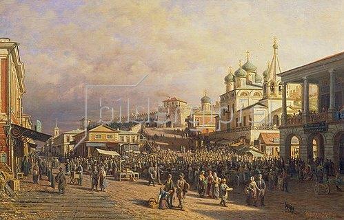 Petr Werestschagin: Markt in Nischni-Nowgorod. 1872