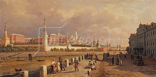 Petr Werestschagin: Der Kreml in Moskau, gesehen vom Sofien-Ufer. 1879.