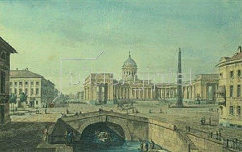 Maxim Nikiforowitsch Worobjew: Die Kathedrale von Kazan in St.Petersburg. 1817.