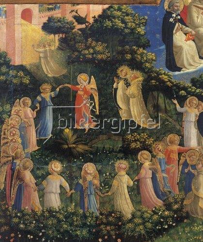 Fra Angelico: Auferstehung der Seligen und Engelreigen, Detail aus dem Jüngsten Gericht