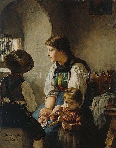 Franz von Defregger: Wie der Vogel singt. 1878