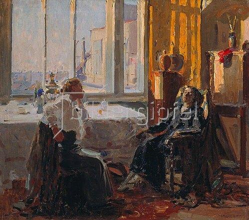Efim Mikhailowitsch Chepzov: In einem Künstlerstudio. 1915