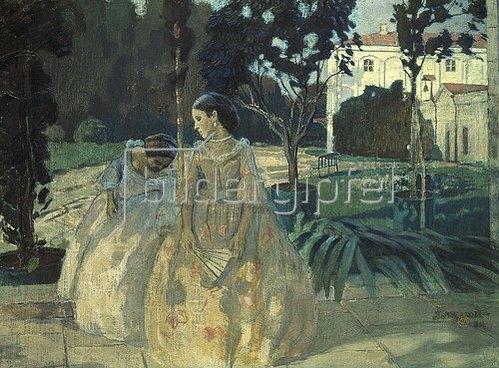 Viktor Borissow-Mussatow: Zwei Damen im Park. 1901.