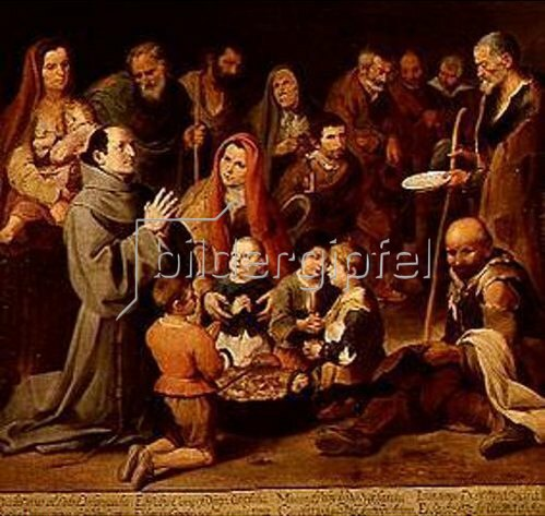 Bartolomé Estéban Murillo: Die Armenspeisung des hl.Diego von Alcala.