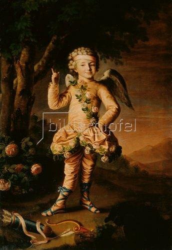 Iwan Petrowitsch Argunoff: Iwan Yakimov als Amor, Bildnis, 1790.