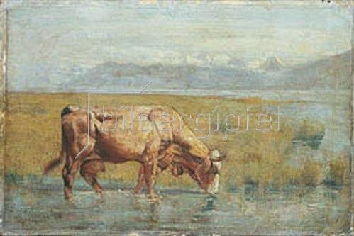 Ferdinand Hodler: Kuh am Seeufer. 1881/82.