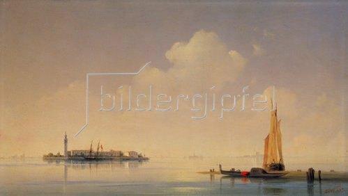 Konstant.Iwan Aiwassowskij: Die Lagune von Venedig. Blick nach San Giorgio. 1844.