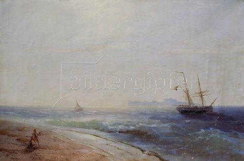 Konstant.Iwan Aiwassowskij: Blick zur Insel Capri. 1881.
