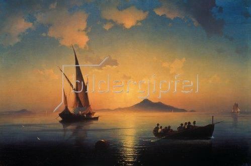 Konstant.Iwan Aiwassowskij: Abendstimmung über der Bucht von Neapel. 1841.