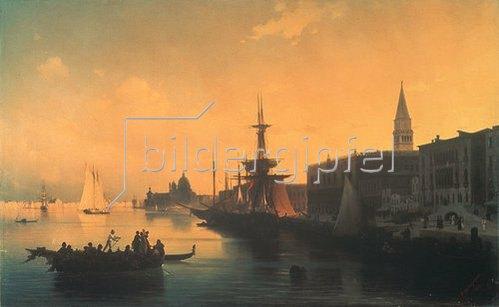 Konstant.Iwan Aiwassowskij: Abend in Venedig. 1842.