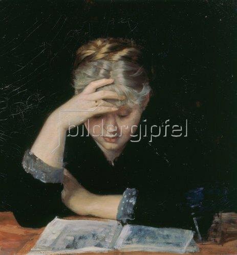 Maria Baschkirtseva: Lesende Frau.