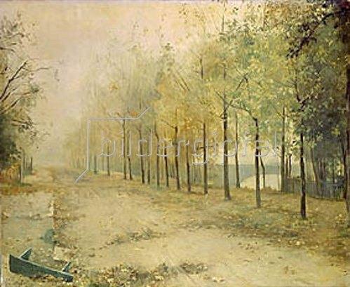 Maria Baschkirtseva: Herbstliche Allee. 1883.