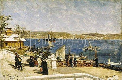 Alexander Beggroff: Uferpromenade in Sewastopol. 1886.