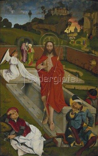 Hans Pleydenwurff: Hofer Altar, re.Flügel innen: Auferstehung Christi.