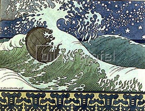 Iwan Bilibin: Illustration zu Puschkin's 'Das Märchen des Zaren Saltan'. 1905