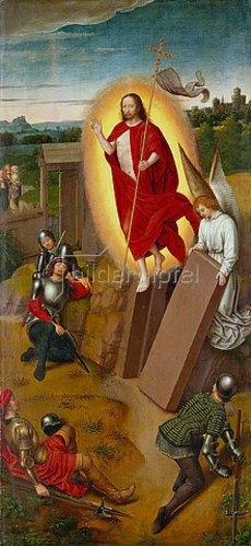 Hans Memling: Die Auferstehung Christi. Rechte Tafel von einem Hausflügelaltar.