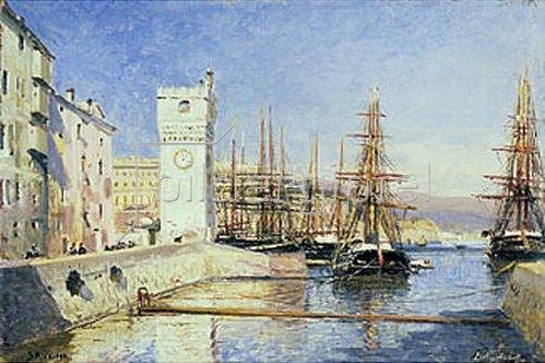Alexej Petrowitsch Bogoljubov: Im Hafen von Savona.