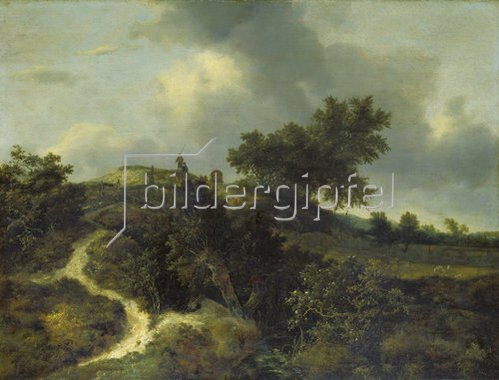 Jacob Isaacksz van Ruisdael: Sandhügel, mit Bäumen bewachsen.