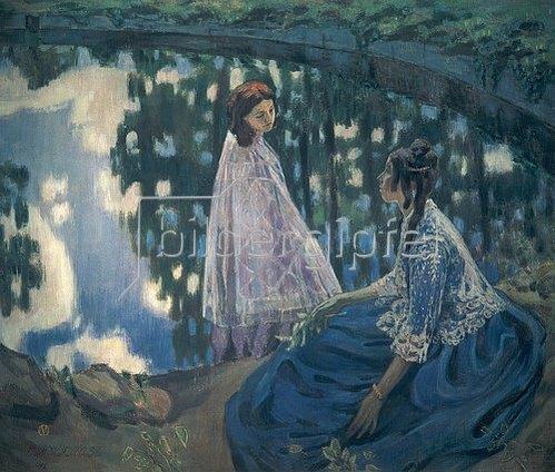 Viktor Borissow-Mussatow: Frauen am Wasserbecken. 1902.