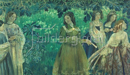 Viktor Borissow-Mussatow: Smaragdgrün (sechs Frauen). 1903/1904
