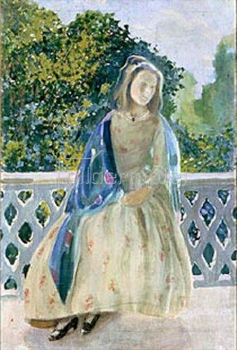 Viktor Borissow-Mussatow: Mädchen auf einem Balkon. 1900.