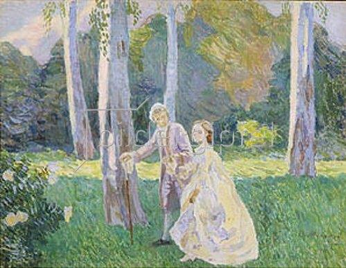 Viktor Borissow-Mussatow: Spaziergang im Park. 1901.