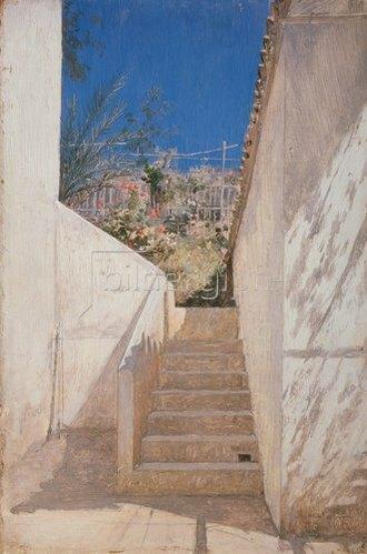 Pawel Brjullow: Treppe in einem algerischen Garten. 1883