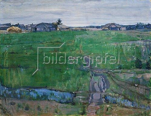 Isaak Brodskij: Wiese am Rande eines Dorfes.