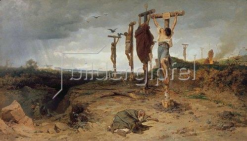 Feodor Andrejew Bronnikoff: Kreuzigungsplatz im antiken römischen Reich. 1878.