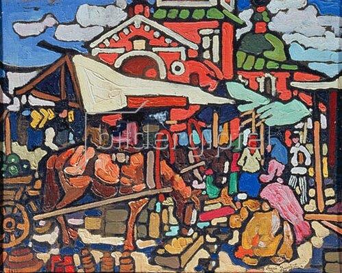 Andrej Dmitrijev: Marktszene. 1912.