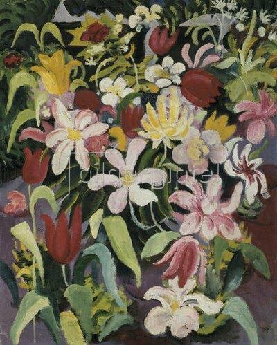 August Macke: Blumenteppich. 1913.