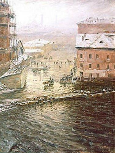 Nikolaj Dubowskoj: Überschwemmung in St. Petersburg. 1903.