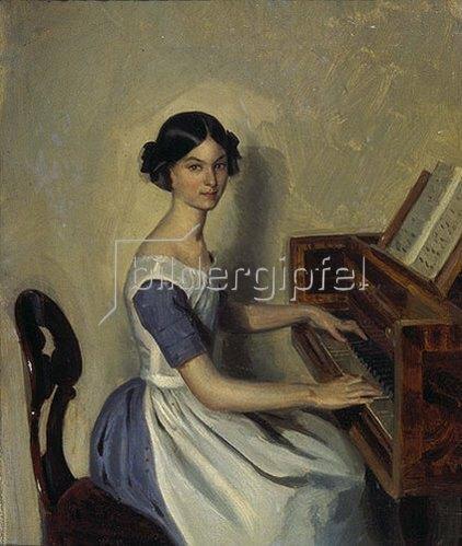 Pawel Fedotow: Bildnis der N. Zdanowitsch am Piano. 1849
