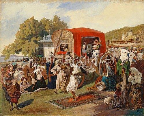 Grigorij Gagarin: Ein Fest in der Türkei. 1830/1860.