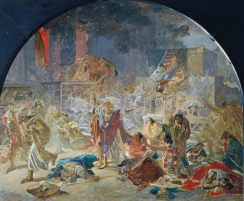 Nikolai Gay: Die Zerstörung des Tempels in Jerusalem. 1859