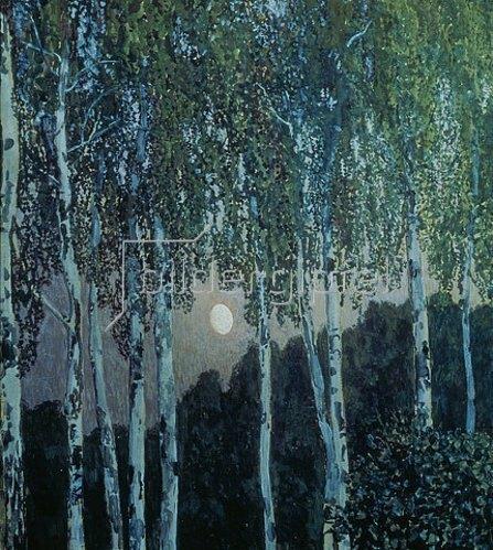 Alexander Jakowlev Golowin: Birken im Abendlicht. 1908/10