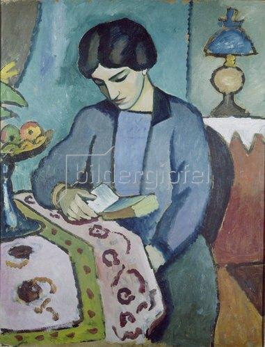 August Macke: Frau des Künstlers (Studie zu einem Porträt). 1912.