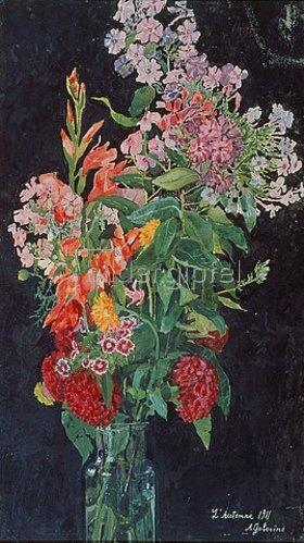 Alexander Jakowlev Golowin: Blumenstrauss in Glasvase. 1911.