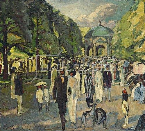 Albert Weisgerber: Im Münchner Hofgarten. 1911.
