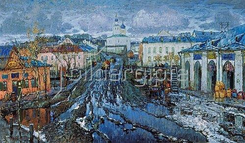Konstantin Gorbatov: Schneeschmelze in einer Provinzstadt. 1920.