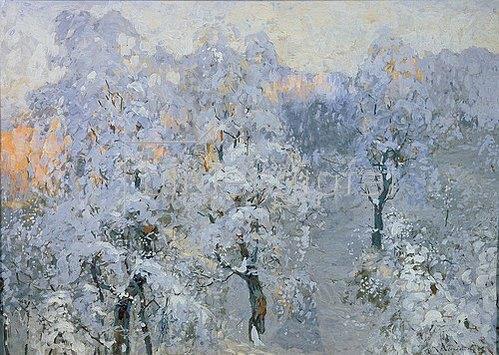 Konstantin Gorbatov: Wintersilber (Rauhreifbäume). 1910.