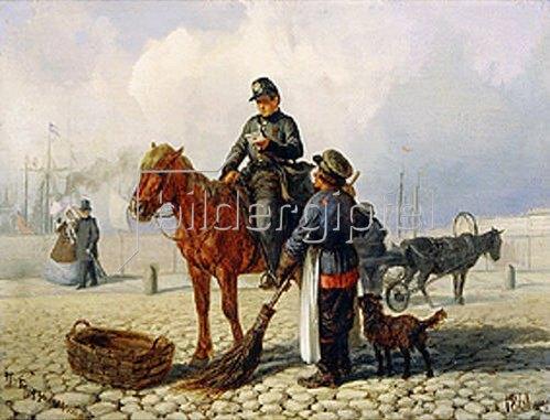Pjotr Nikolajew Grusinskij: Der Briefträger zu Pferde. 1861.