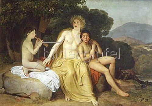 Alexander Iwanow: Apollo, Hyazinth und Zypress singend und musizierend. 1831/1834