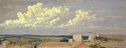 Alexander Iwanow: Wolken über weiter Landschaft.