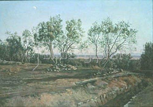 Alexander Iwanow: Olivenbäume bei Albano. 1845.