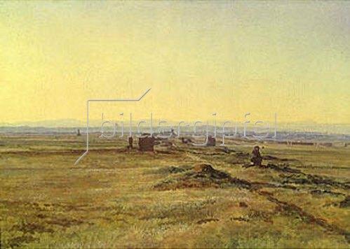 Alexander Iwanow: Sonnenuntergang über italienische Landschaft. 1845.