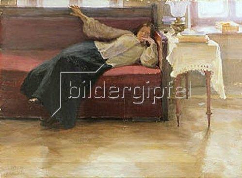 Jakov Kalinichenko: Träume (Ruhende Frau). 1904.