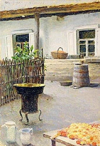 Jakov Kalinichenko: Einkochen von Marmelade im Freien. 1892.