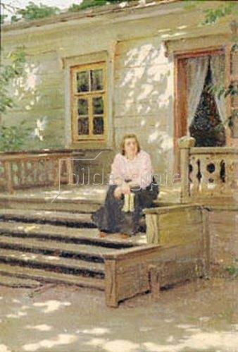 Jakov Kalinichenko: Auf der Veranda der Datscha. 1900.