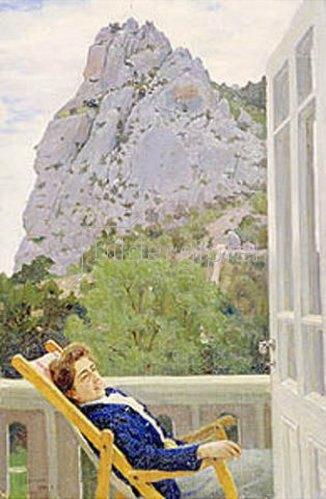 Jakov Kalinichenko: Auf der Terrasse. 1910.